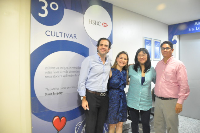 Miguel Laporte, Roseli Ramos, Linko Ishibashi e Lagtzu Lopez Miro, do HSBC.