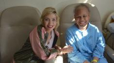 Luiza Possi visita o Hospital Pequeno Príncipe